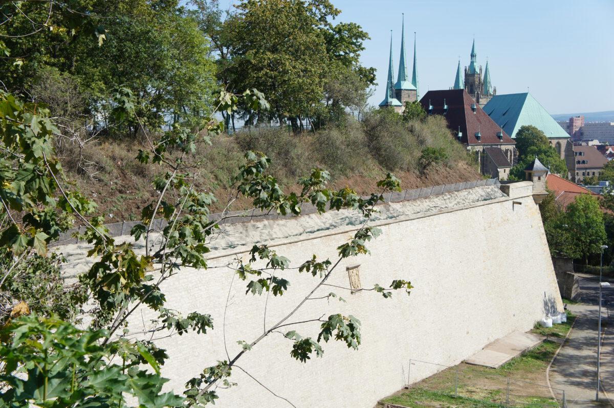 Hangsicherung auf der Bastion Michael Erfurt Petersberg