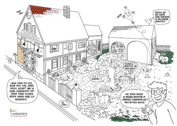 Ausmalbild für junge Baukulturfans (Sandruschka)