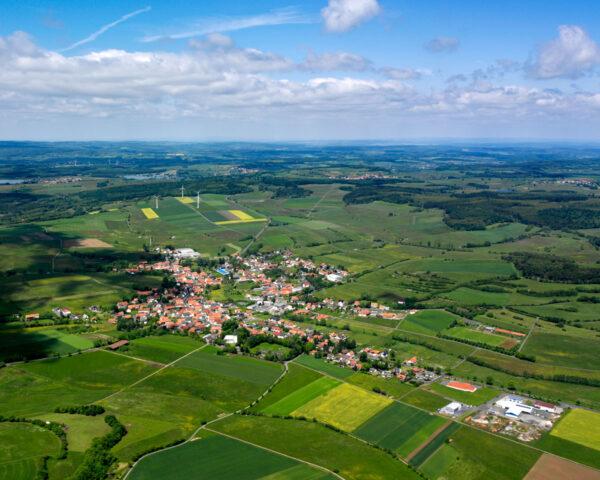 Luftbild von Freiensteinau
